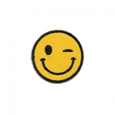 Smile, Faccina, Emoticon, Emoji occhiolino patch piccola - Modidea