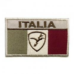 Italia Bandiera fondo beige