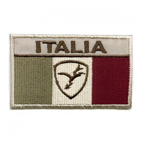 Applicazione Termoadesiva Italia Bandiera fondo beige - 10806B Marbet