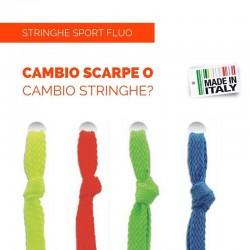 Stringhe per Scarpe piatte SPORT colori FLUO 120cm x 8mm