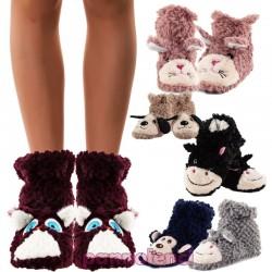 Pantofole peluche DONNA eco pelliccia antiscivolo - JH7731 Yanoir