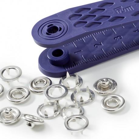 Bottoni a pressione 'Jersey' ANELLO ARGENTO 10mm - 390107 Prym