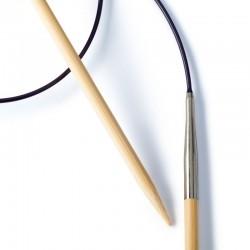 Ferri Circolari in Bambù mm 4.0 con filo in plastica. Lunghezza 40 cm