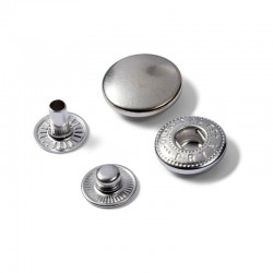 Bottoni a pressione ANORAK ARGENTO 15 mm - 390301 Prym