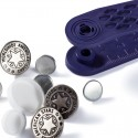 Bottoni per Jeans 17 mm ARGENTO ANTICO disegno American star