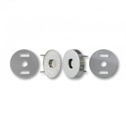 Chiusura magnetica Argento diametro 20mm