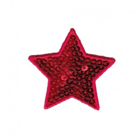 Applicazione Termoadesiva Stella Paillette Rossa - Modidea