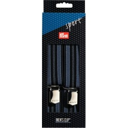 Bretelle uomo Sport 35mm / 120cm blu marino,strisce blu