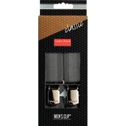 Bretelle per Uomo Classiche grigio disegno spigato 30 mm / 120cm