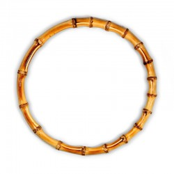 Manici per borse, rotondi, in bambù naturale 17cm
