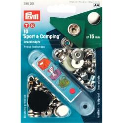 Bottoni a pressione Sport & Camping ARGENTO 15mm