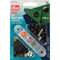 Bottoni automatici a pressione Sport & Camping Mini nero 13mm