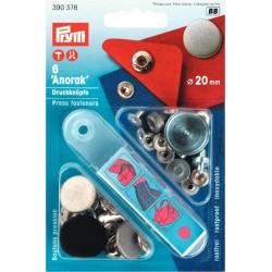 Bottoni automatici a pressione Anorak disegno Piano ferro antico pallido 20mm