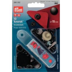 Bottoni a pressione ANORAK NERO 15 mm