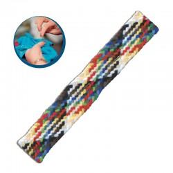 Treccia lana multicolore da rammendo con ago