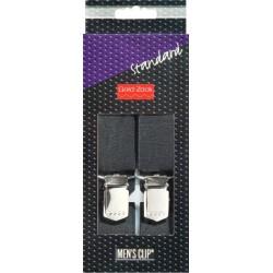 Bretelle per Uomo Standard NERO 30 mm / 120cm