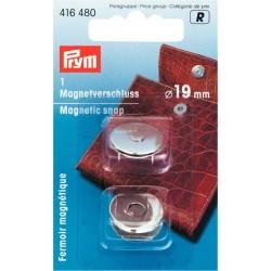 Chiusura magnetica Argento diametro 19mm
