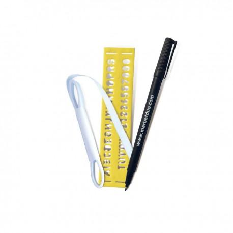 SET MARCABIANCHERIA termoadesivo con pennarello - 117 Marbet