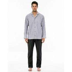 Pigiama Fila Uomo, manica e gamba lunga in tela di cotone aperto - 9F06II Fila Underwear