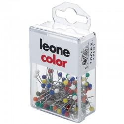 Spilli Con Testa di Plastica Colorata 100 pezzi