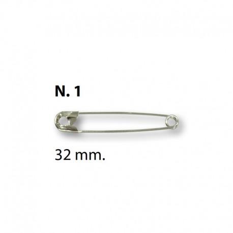 Spille da balia N°1 - 32mm Argento - Ercole Fumagalli
