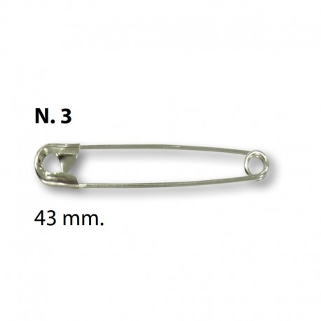 Spille da balia N°3 - 43mm Argento - Ercole Fumagalli