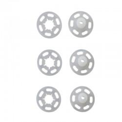 Bottoni Automatici Plastica Trasparente 21 mm
