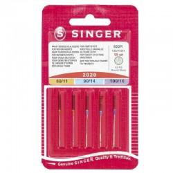 Aghi per macchina da cucire SINGER 80/90/100 Assortiti 5 pezzi con testa piatta