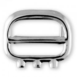 Fibbia per gilét, in ferro 25mm finitura argento