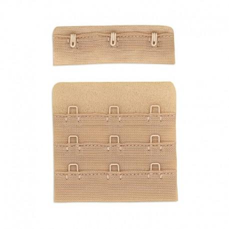 Prolunga per reggiseno da cucire, (chiusura di ricambio) 55 mm 3 ganci - 166.55 Marbet