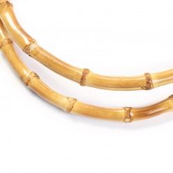 Manici per borse rotondi in bambù naturale 17cm