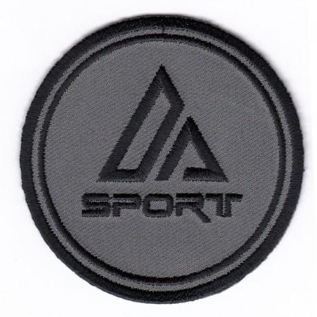 Tondo medio A-SPORT Grigio patch ricamata e termoadesiva - 5093 Marbet
