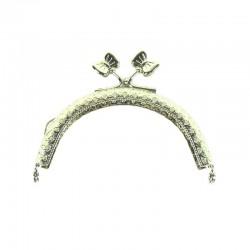 Chiusura per borsellino clik clak farfalla argento
