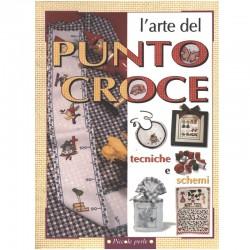 Libro l'arte del punto croce, tecniche e schemi - Giunti Demetra