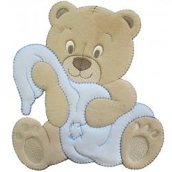 Luna con orsetto, applicazione Baby per copertine