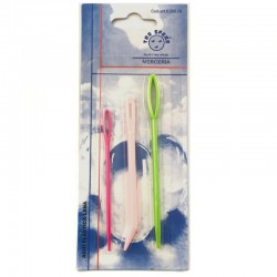 Aghi Lana in Plastica colorata set 3 pezzi