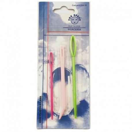 Aghi Lana in Plastica colorata set 3 pezzi - 266.59 Filati Tre Sfere
