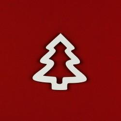 Albero Natale in legno bianco