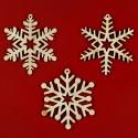 Fiocchi di neve in legno naturale decorazione natale