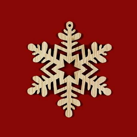 Fiocchi di neve in legno naturale - K1321 Benox