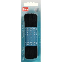 Stringhe piatte per scarpe 180 cm x 8 mm Nero - 974750 Prym