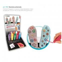 Gommina per creare calze antiscivolo