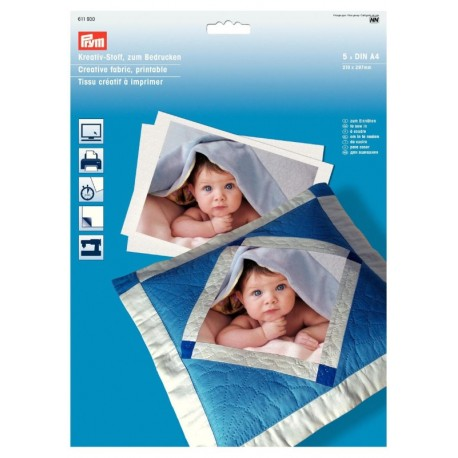 Tessuto Creativo, stampabile. Adesivo o cucibile - 611930 Prym
