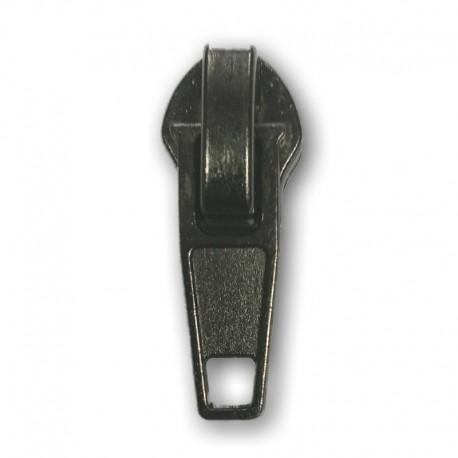 Cursore di ricambio per chiusura lampo con cerniera a spirale grande S8 - colore Grigio canna di fucile