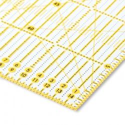 Regolo universale Omnigrid squadra rettangolare righello per taglierina 15 x 30 cm