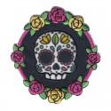 Teschio messicano Dia de Los Muertos patch ricamata