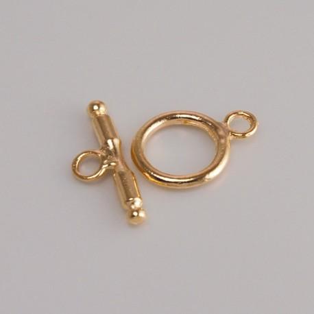 Chiusura a T per collane e braccialetti in colore oro - FF168 Benox