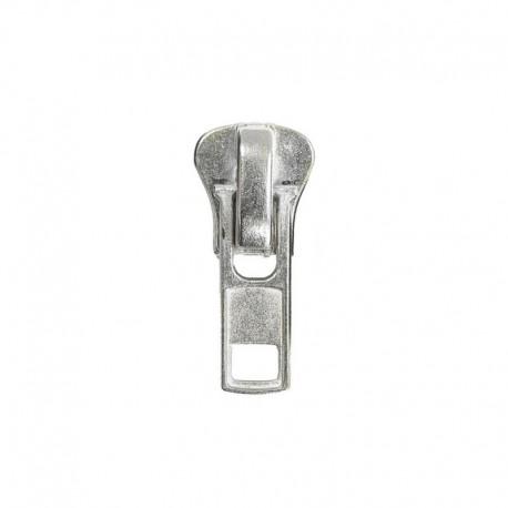 Cursore di ricambio per cerniere in plastica pressofusa a carrarmato P8 - colore argento