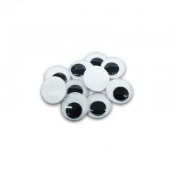Occhietti adesivi tondi 10 mm diametro