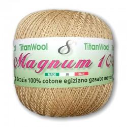 Filato per uncinetto N° 8 Magnum Titan Wool 100% Cotone egiziano Makò